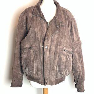 Men's 80s Vintage Levi's Suede Leather Bomber Coat